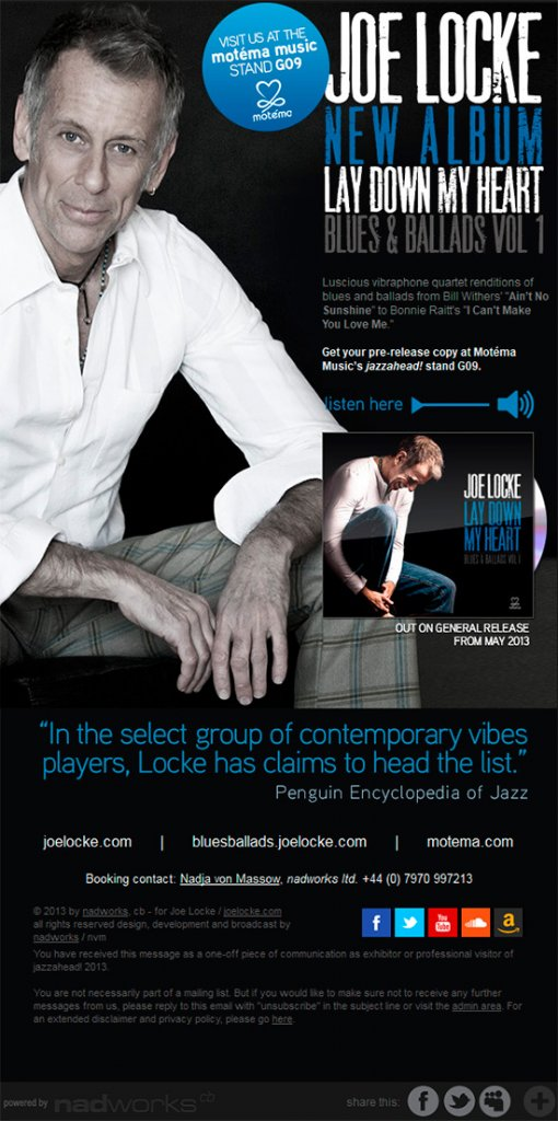 Joe Locke jazzahead 2013 promo