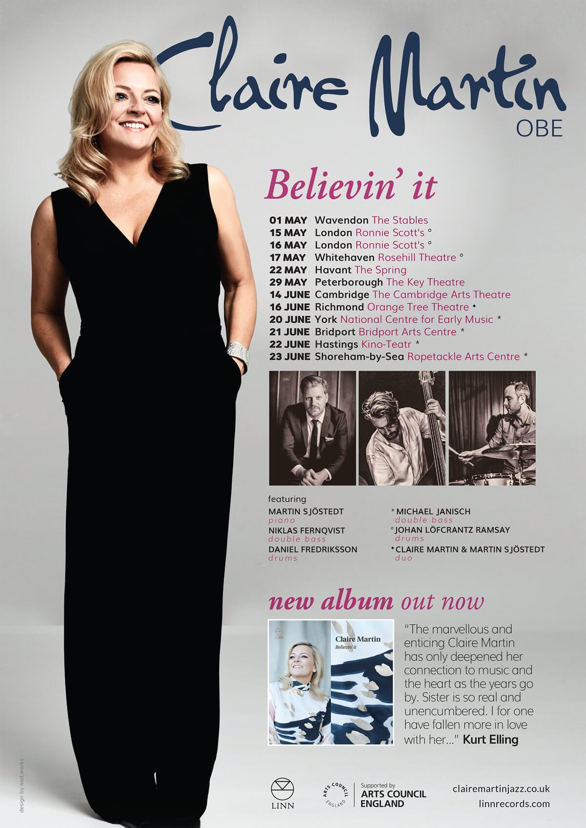 Claire Martin - Believin' It tour