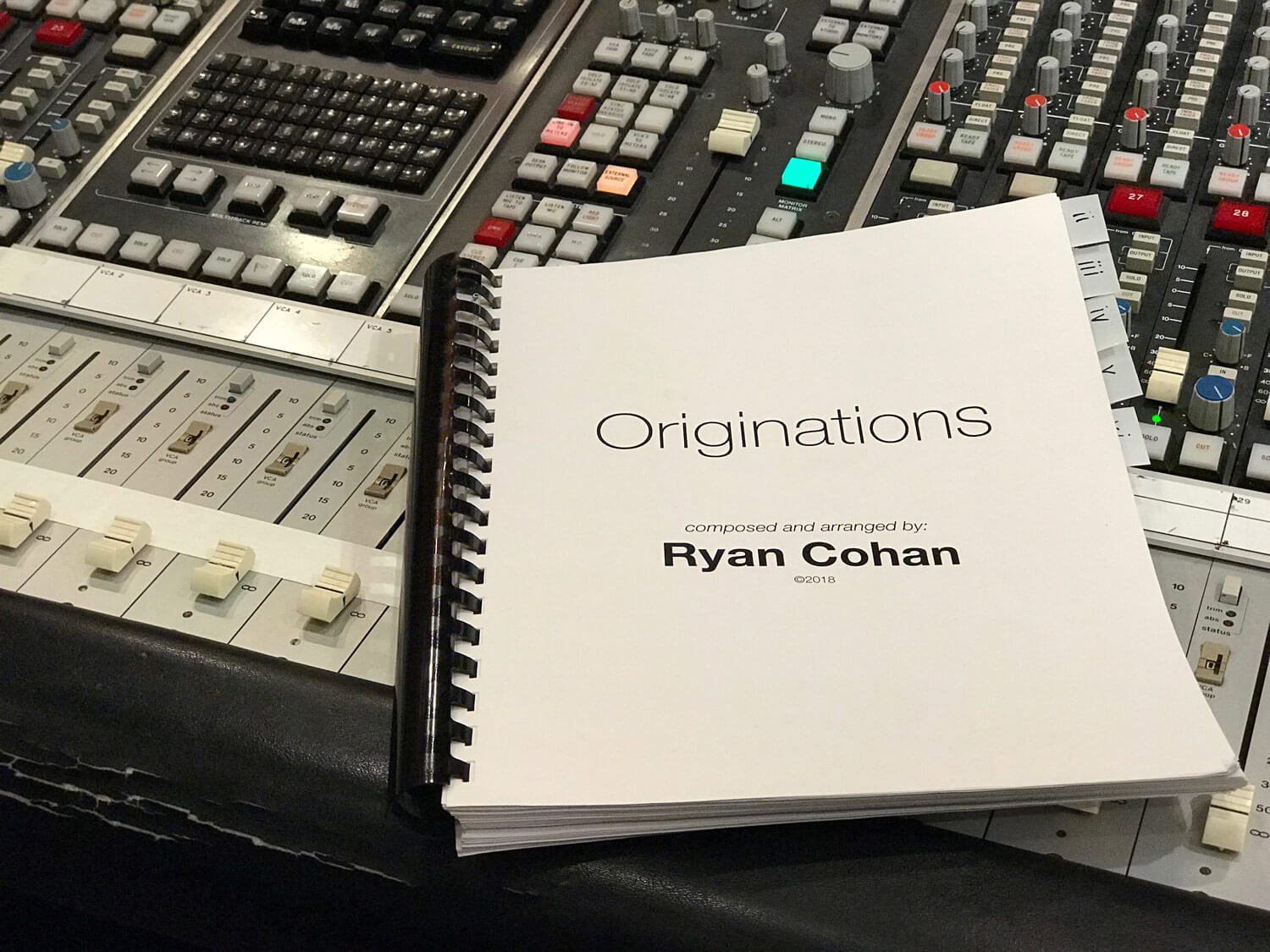 Ryan Cohan 'Originations'